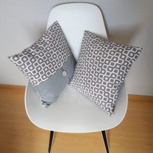coussin gris et blanc les p'tits coussins