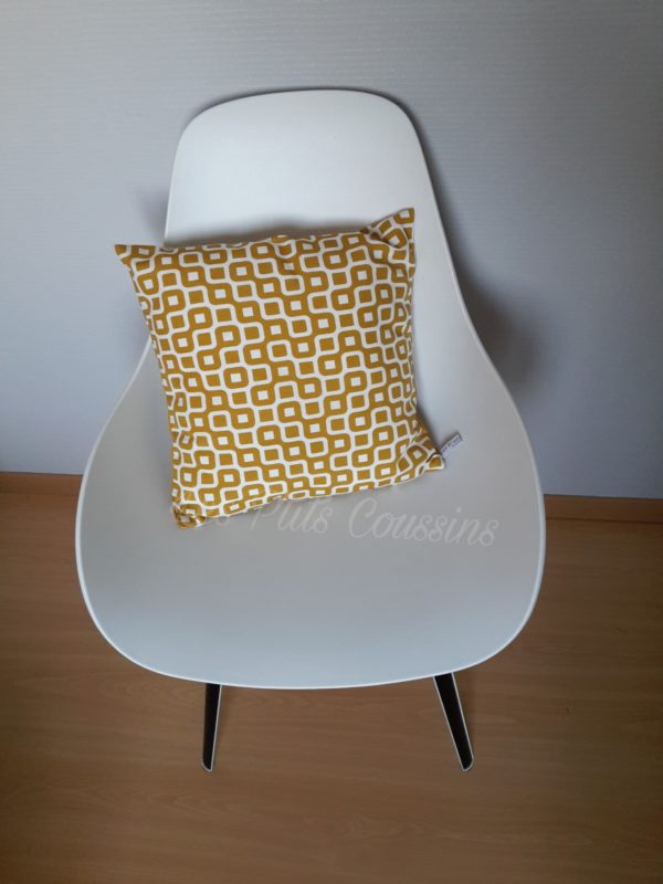 coussin scandinave jaune moutarde