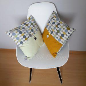 coussin scandinave jaune gris les p'tits coussins