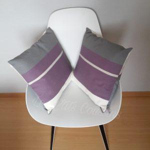 coussin violet et gris les p'tits coussins