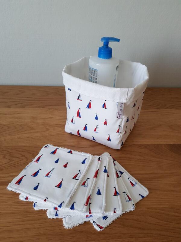 lingette lavable panière bébé les p'tits coussins