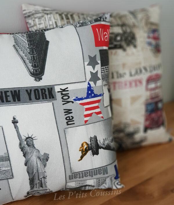 coussin motifs new york les ptits coussins