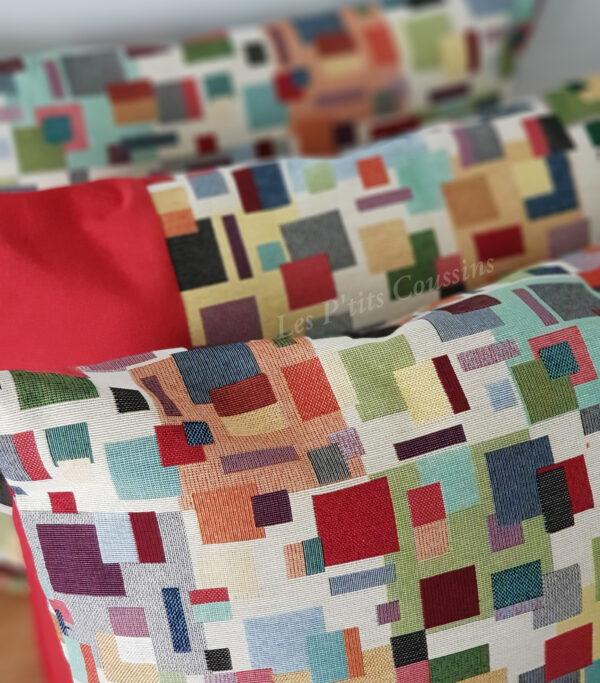 coussin multicolores les ptits coussins