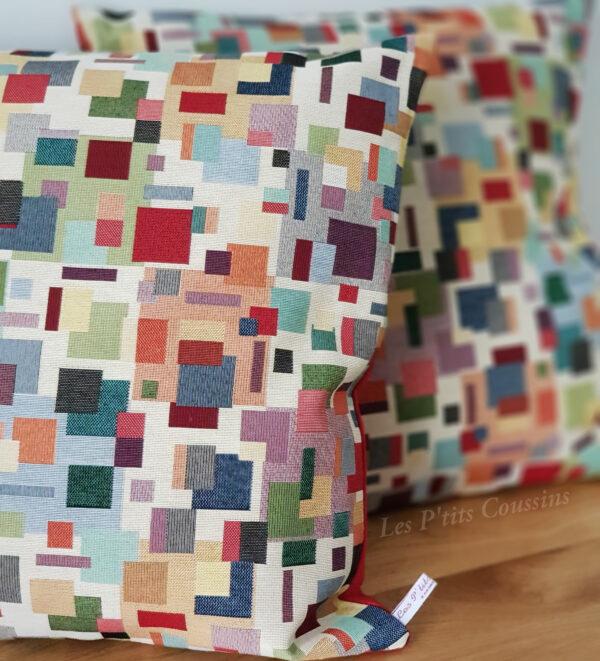 coussin tissu coloré les ptits coussins