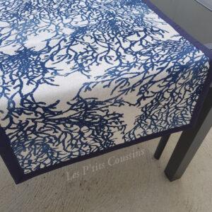 chemin table motifs marins de coraux les ptits coussins