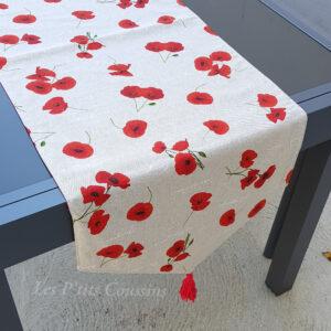 chemin table coquelicot les ptits coussins