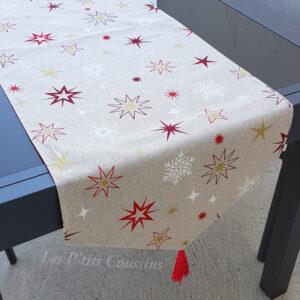 chemin table étoiles noel les ptits coussins